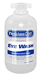 PhysiciansCare 500-90546 Eyewash Bottle, 16 oz. (Pack of 12)
