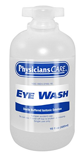 (PhysiciansCare by First Aid Only 500-90546 Eyewash Bottle, 16 oz. (Pack of 12))