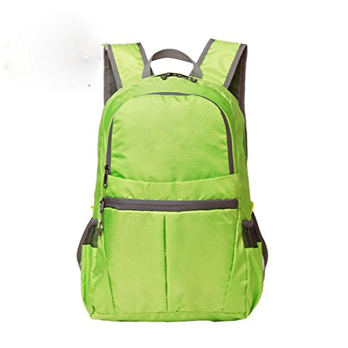 Plegable multi-color de los deportes al aire libre bolsa de nylon 20L impermeable escalada bolsa , dark blue Green