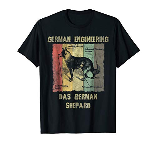 - German Engineering Gift T shirt Das German Shepard