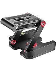 Neewer Opvouwbare Z Flex kantelkop statief kogelkop met snelwisselplaat QR plaat -aluminiumlegering camerahouder met waterpas, compatibel met camera, statief, rail (rood)