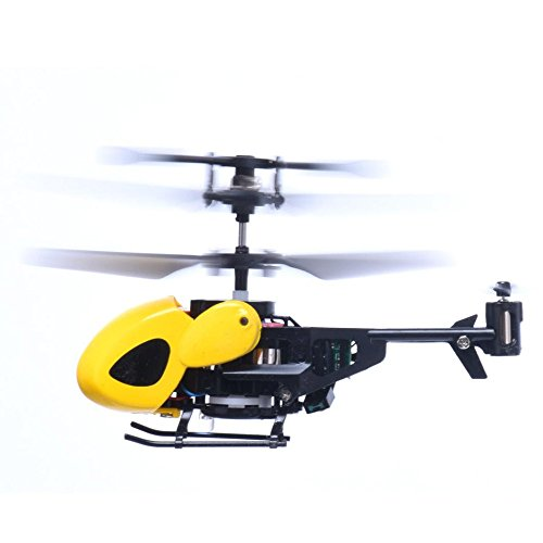 Waymine Mini Rc Helicopter Radio Remote Control Aircraft Toy Gift Micro 3.5 Channel (Yellow)