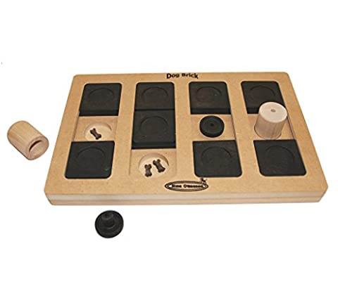 Nina Ottosson Dog Brick Interactive Doy Toy Puzzle for Dogs, Wood - Turbo Twister Slide
