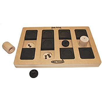 Nina Ottosson Dog Brick Interactive Doy Toy Puzzle for Dogs, Wood