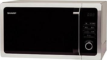 Sharp r-752in Horno a microondas, 1450 Watts, 25 L,, plata