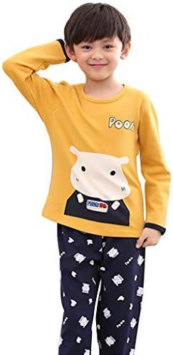 Pijamas de algodón para niños de Manga Larga Dibujos Animados ...