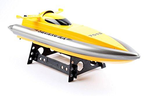 B015003 2.4 GHz RC Boot Schiff Rennboot RC Schnellboot ferngesteuertes Boot bis 20 km/h Spitzengeschwindigkeit High-Speed Boot 46 cm lang RTR