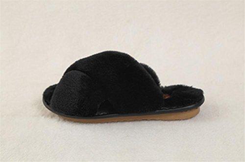 caldo Mhgao al e donna in autunno in inverno pantofole coperto pantofole da al tenere 6 lana in casual B6nw5PBqrv