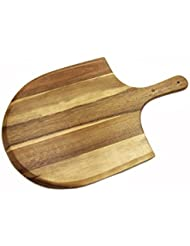"Heritage Acacia Wood Pizza Peel, Great for Homemade Pizza, Cheese and Charcuterie Boards - 22"" x 14"""