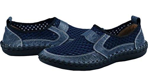 Besporter Heren Mesh Casual Wandelschoenen Loafers Blauw Rijden