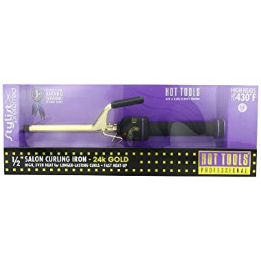 Hot Tools Professional HT1103 Mini Professional Curling Iron with Multi-Heat Control, 1/2 Inches