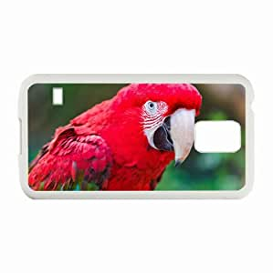 Customized Samsung Galaxy S5 i9600 Hard Shell Cover Case Diy Personalized Designparrot macaw White
