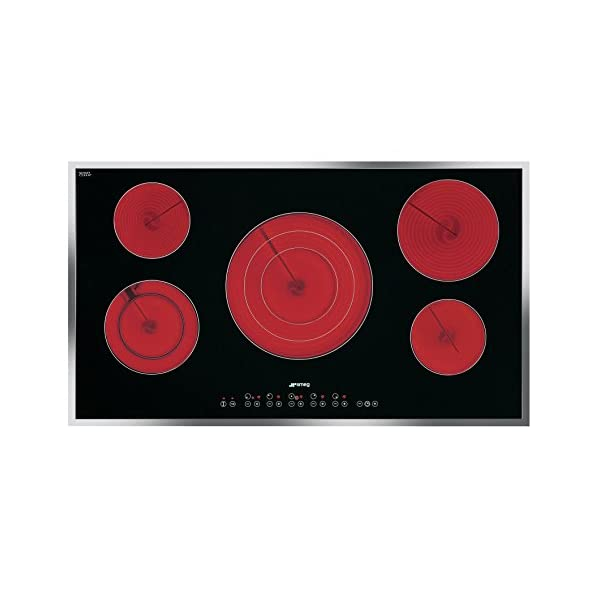 """36"""" Electric Cooktop including Stainless Steel Frame 1"""