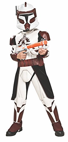 Rubies Star Wars Clone Wars Child's Clone Trooper Deluxe Commander Fox Costume and Mask, Medium from Rubie's