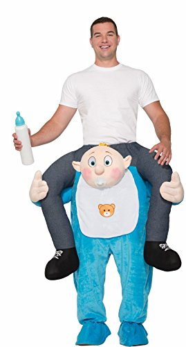 Forum Men's Ride on Baby Deluxe Costume, As Shown, OS - Piggy Back Costume Baby