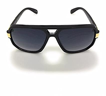 Classic Square Frame Plastic Flat Top Aviator Sunglasses UV Production