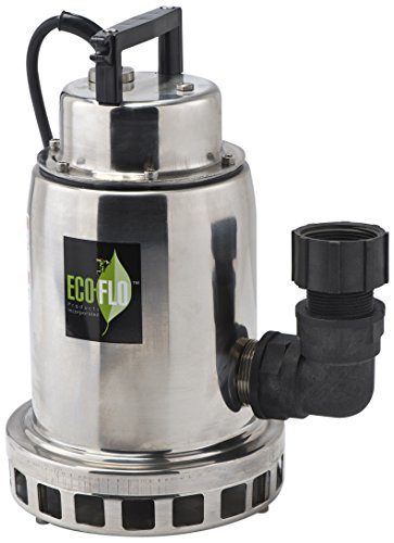 ECO-FLO Products SEP75M Stainless Steel Waterfall Fountain Pump, 3/4 HP, 3,300 GPH ()
