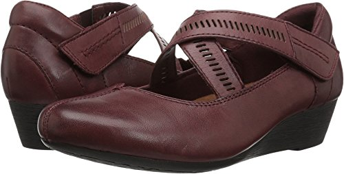 Rockport Cobb Hill Women's Cobb Hill Janet Flat, Merlot Leather, 7 M ()