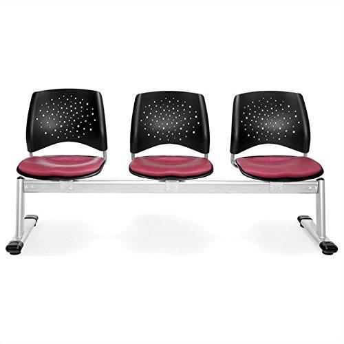 UPC 811588019779, OFM Tessuto 3 Seats Beam in Pink