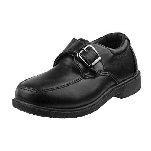 Josmo Boys Comfort School Uniform Shoes, Black Buckle, 1 M US Little Kid' by Josmo