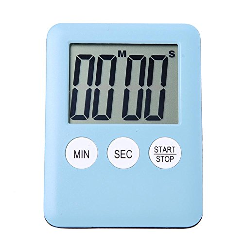 TTnight Large Magnetic LCD Display Digital Kitchen Time Counter Cook Alarm Gym Run (Blue) - Cooks Club Digital Timer
