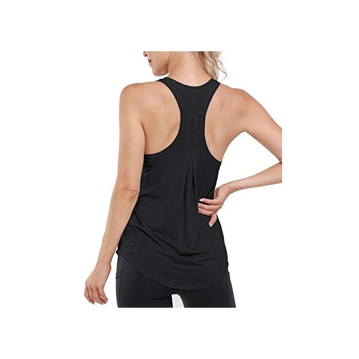 41niCaiOt3L Camiseta sin mangas ultra suave y cómoda: hecha de tela súper suave y elástica (80% nailon + 30% spandex), liviana, transpirable y de secado rápido, perfecta para ropa deportiva y uso diario. Absorbe la humedad y de secado rápido: diseñado para eliminar la humedad de su cuerpo y proporcionar la máxima comodidad; mejorar su rendimiento de yoga / carrera / entrenamiento. 80% Nailon, 20% Elastano
