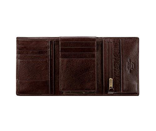 Wittchen Brieftasche | Farbe: Braun| Material: Narbenleder| Größe: 10x13 CM, | Orientierung: Vertikal | Kollektion: Italy| 21-1-018-44
