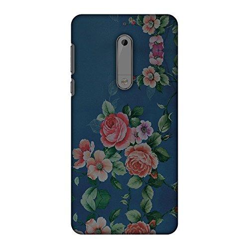 AMZER Slim Fit Handcrafted Designer Printed Hard Shell Case Back Cover for Nokia 5 - Rose Print Provencal