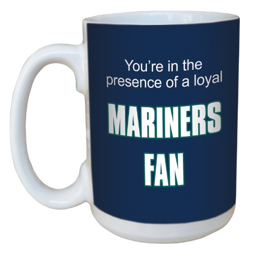 - Tree-Free Greetings lm44101 Mariners Baseball Fan Ceramic Mug with Full-Sized Handle, 15-Ounce