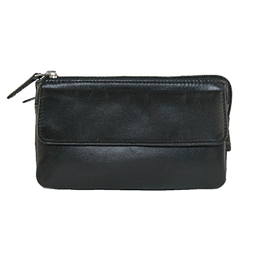 Leather Mini-Fanny Pack Color: Black