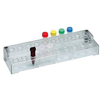 1511-205, Microtube Stand, for 20 tubes, Clear, 1piece, Made-in-Kobe/Japan