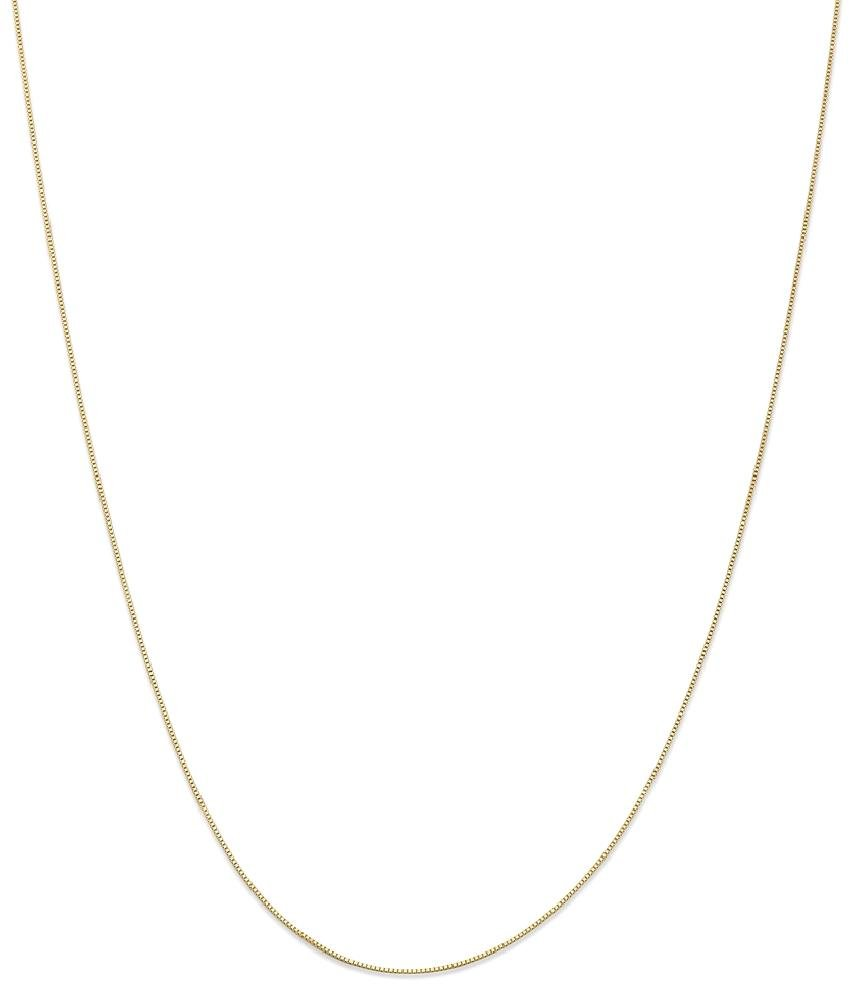 ICE CARATS 14k Yellow Gold .5 Mm Baby Box Chain Fine Jewelry Gift Set For Women Heart