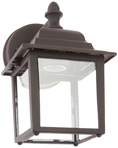 Sunset Lighting F7850-31 Outdoor Wall Sconce with Clear Glass, Black Finish
