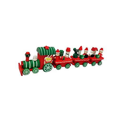 ✤Clearance Sale! ZTY66✤ Xmas Wooden Train Toy Kids Favor Christmas Gifts Hanging Ornament Tree -