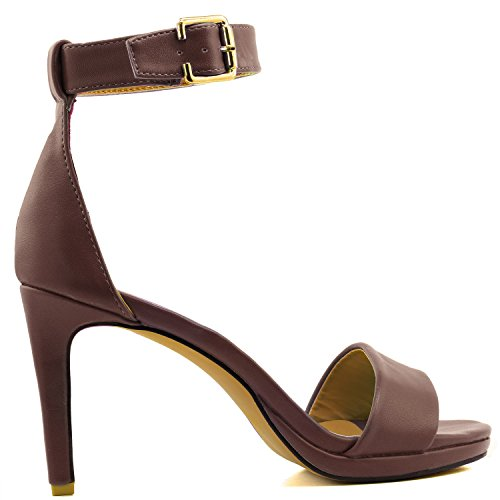 Shoes DailyShoes Open Toe Strap Platform Pu High Evening Casual Womens Brown Sandal Buckle Ankle Pump Heel Dress rtxgr6Iwq