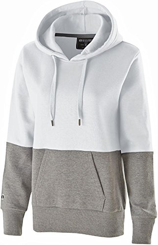 Holloway Sportswear WOMEN'S RATION HOODIE Women's 2XL White/Charcoal Heather