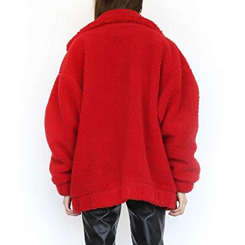 Longues D'hiver Décontracté Et À M Manteau Manches Chaud Lanlan Red Femme Ample Khaki 5Uw0xTWq