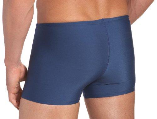 Speedo Men's Endurance+ Polyester Solid Square Leg Swimsuit, Navy, 32