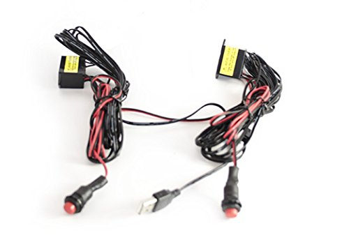 LightWorks DUO Replacement Wiring With Inverter For Lyft & Uber Glow Signs & EL Lights   USB Plug