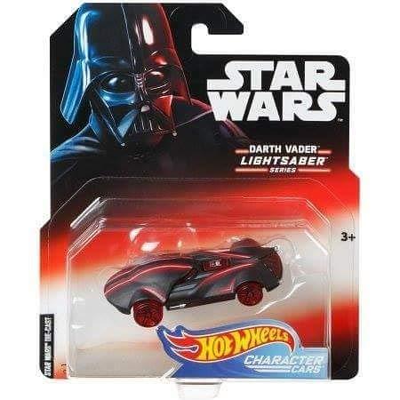 Hot Wheels Star Wars Lightsaber Series Darth Vader Vehículo