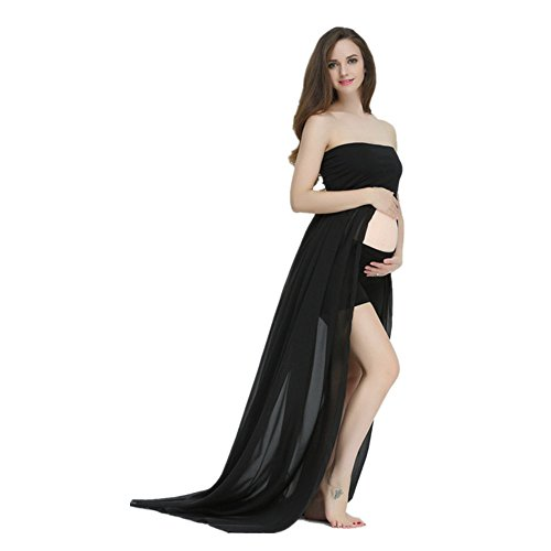 Split Maternity Gown for Photography, Pregnancy Photoshoot Dress Off Shoulder