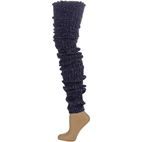 Long Knit Leg Warmers (Foot Traffic - Super Long Cable Knit Leg Warmers,)