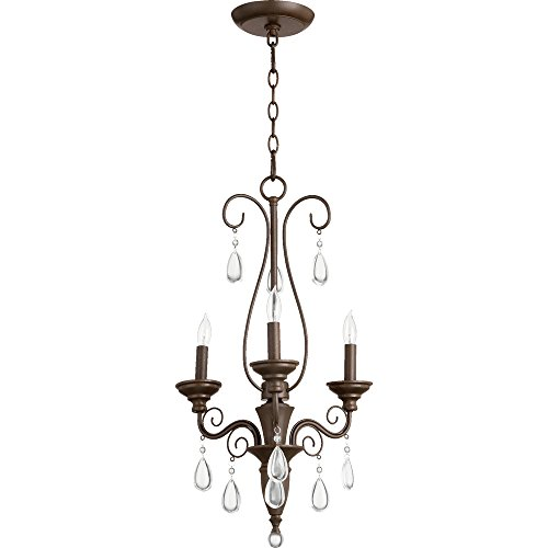 Quorum Vesta 3 Light Up Chandelier in Oiled Bronze
