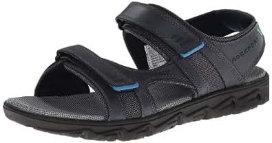 Rockport Men's Rocsports Lite Summer 3-Strap Navy Sandal 14 M (D)