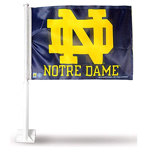 RICO INDUSTRIES NCAA Notre Dame Fighting Irish Car Flag