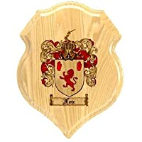Fox Coat of Arms Plaque / Family Crest Plaque