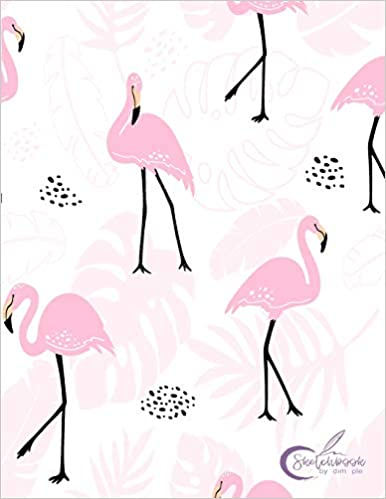 Journaling /& Doodling Sketch book: Flamingo cover Drawing Blank Unlined Paper for Sketching 8.5 x 11 inches 110 pages Whiting