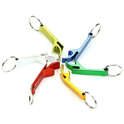 AIRSUNNY 5pcs Keychain Bottle Opener - bartender bottle opener - Best Aluminum Bottle/Can Opener - Compact, Versatile…  