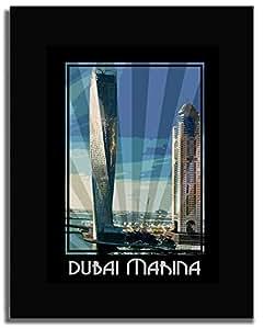 Dubai Marina- Colour F04-m (a3) - Framed