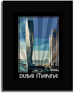 Dubai Marina- Colour F04-nm (a5) - Framed